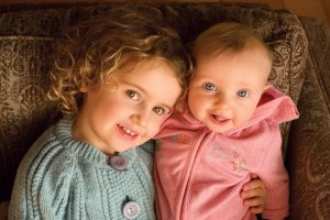 My granddaughters, Oona and little Maeve