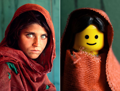 The famous Afgan Girl from the cover of National Geo...