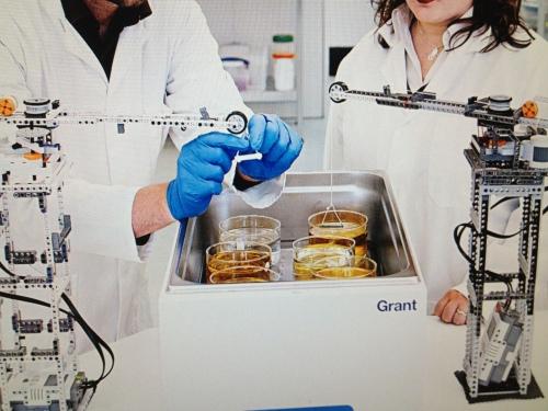 Lab crane, scientific instrument Lego