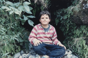 Sol at a cave in Deradun, India when he was about 8.