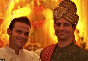 Solomon and Scott Kaiser at his wedding in India a few years ago.