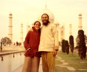 Me and Shabda at the Taj 1976, 3 months pregnant with Sol.