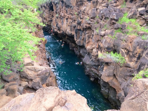 swimming hole on Santa Cruz Island