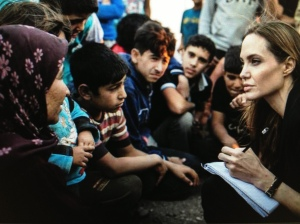 Angelina Jolie at Zaatari