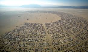 the encampment of Burningman