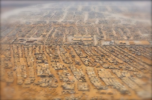 Muslim refugee camp in Jordan