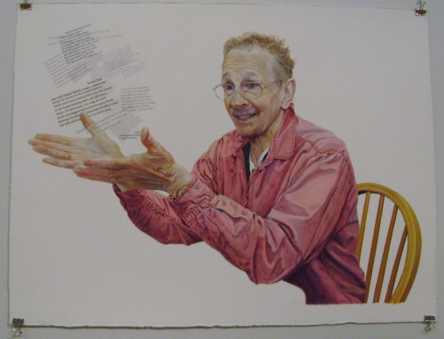 Phil Levine by artist, Jon Friedman