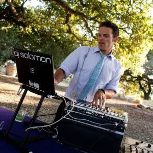 DJ'ing in the Napa countryside