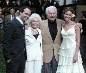 Ammon, Grandma, Jim and Laura ant Ammon and Laura's wedding