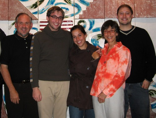 The Brilliant Family: Larry, Jon, Iris, Girija, and Joe